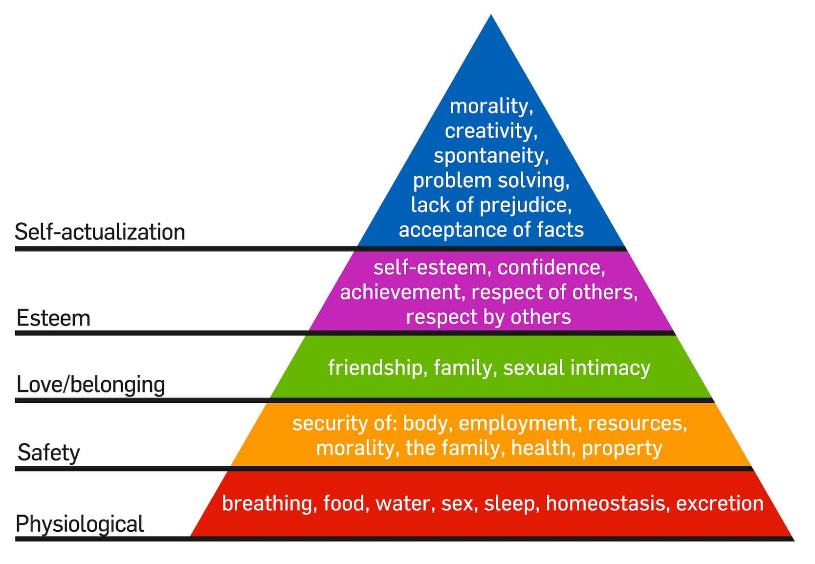 heirarchy of needs